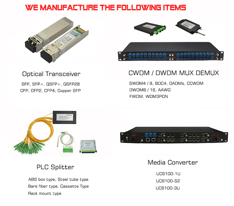 Competitive Price 8 Channels Fiber Bi-Direction 16 Wavelength CWDM Device for FTTH Applications