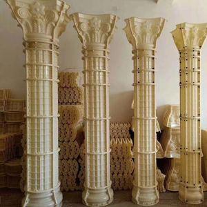 Concrete Roman column pillar plastic molds  for building