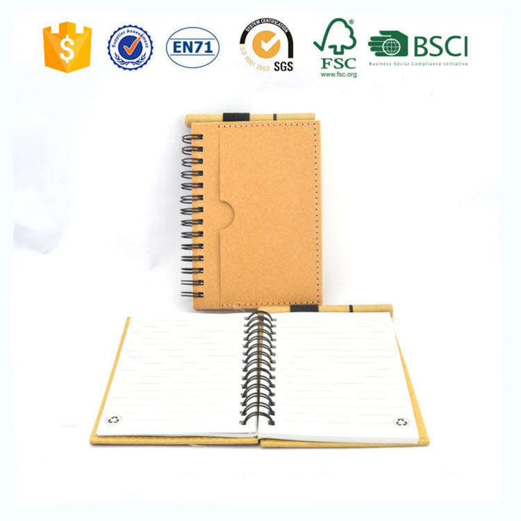 logo Custom Coil A5 Kraft flipchart Notepad notebook