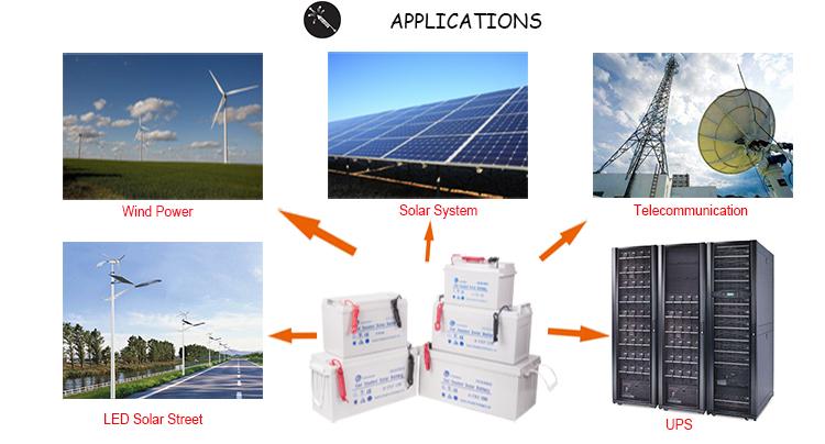 Gel agm tiefe Zyklussolarbatterie 12v 100Ah 200Ah 250Ah für Photovoltaik-Solarsystem