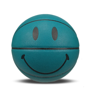 Basketball training yellow/green smile boy ball kid gift basketball custom logo