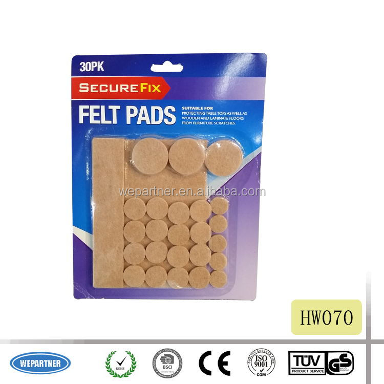 HW070 Furniture felt pads with self-adhesive