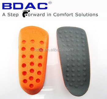 reusable half length soft foam in sock height increase insole