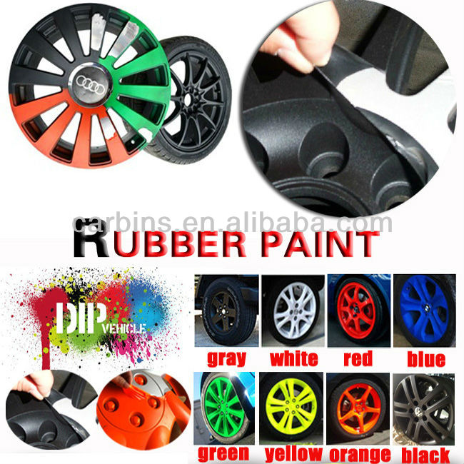 Rubber verf spray