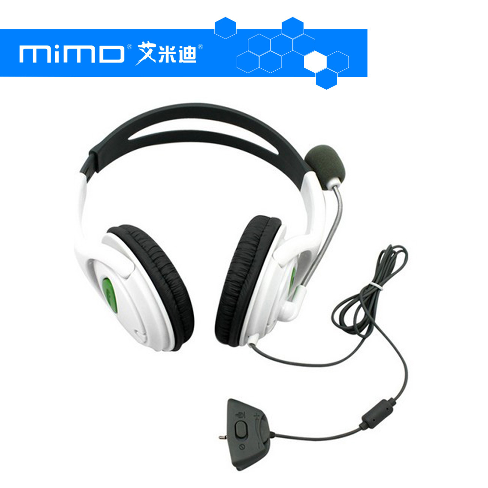 Live Big Headset Headphone With Microphone for XBOX 360 Xbox360 Slim Black and White