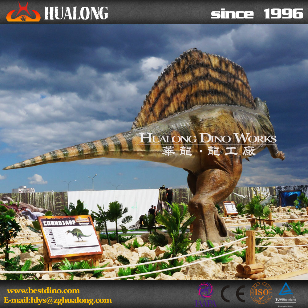 Playground high quality giant vivid game dinosaur for entertainment