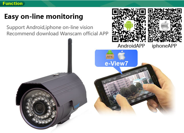 Wanscam (HW0027) - outdoor camara ip wifi with google play store app download android