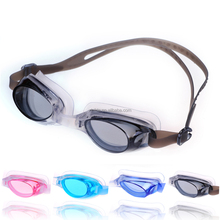 Wide angle Clear Silicone Anti-fog Lens PC Side Clip PVC Eyecup Wearproof Swimming Goggles