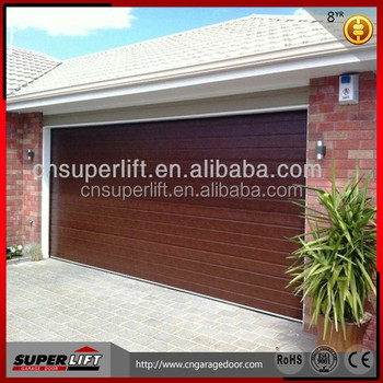 Insulated Single Panel Garage Door, Woodgrain Garage Door With Remote  Control Opener,sandwich Panel