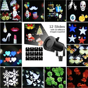 Portable outdoor christmas led falling snow lights outdoor advertising spotlight novelty house projector with low price