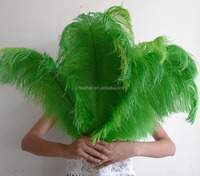 artificial colorful ostrich feather flowers for party and wedding decoration