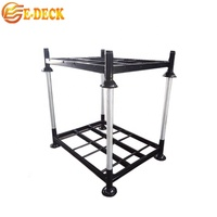 Metal steel stabled rigid stackable movable customised logistics heavy duty post pallet stillage for warehouse storage