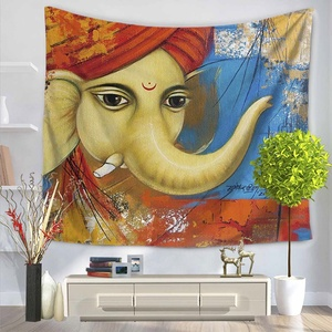 Home Decor Ganesha Hindu God On The Wall Hanging Tapestry