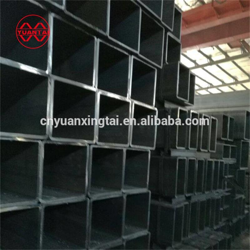 construction iron pipe prices pvc coated square tube raw materials