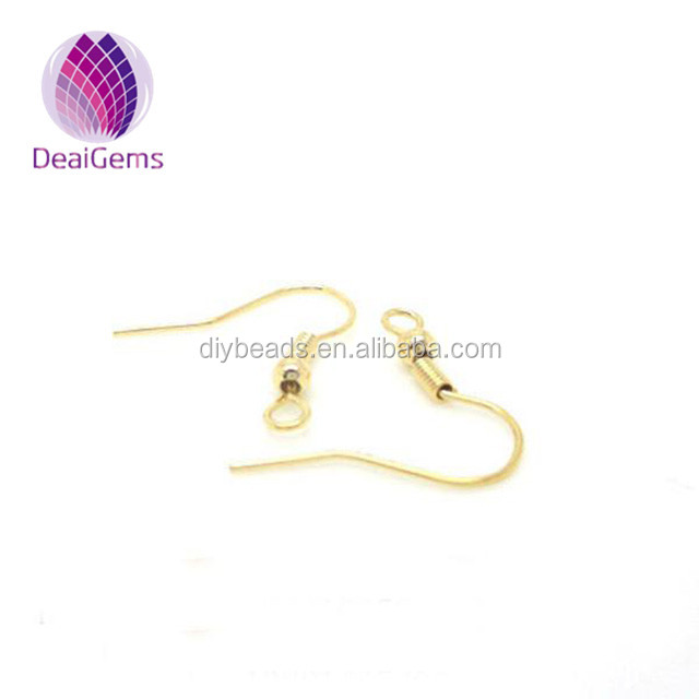 High quality Filled 18k earwire earring finding accessories