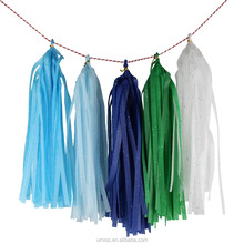 Umiss 2017New Prodotto <span class=keywords><strong>All</strong></span>'<span class=keywords><strong>ingrosso</strong></span> Colorful Tissue Paper Nappa Garland con <span class=keywords><strong>Glitter</strong></span>, punto di Infiammabilità