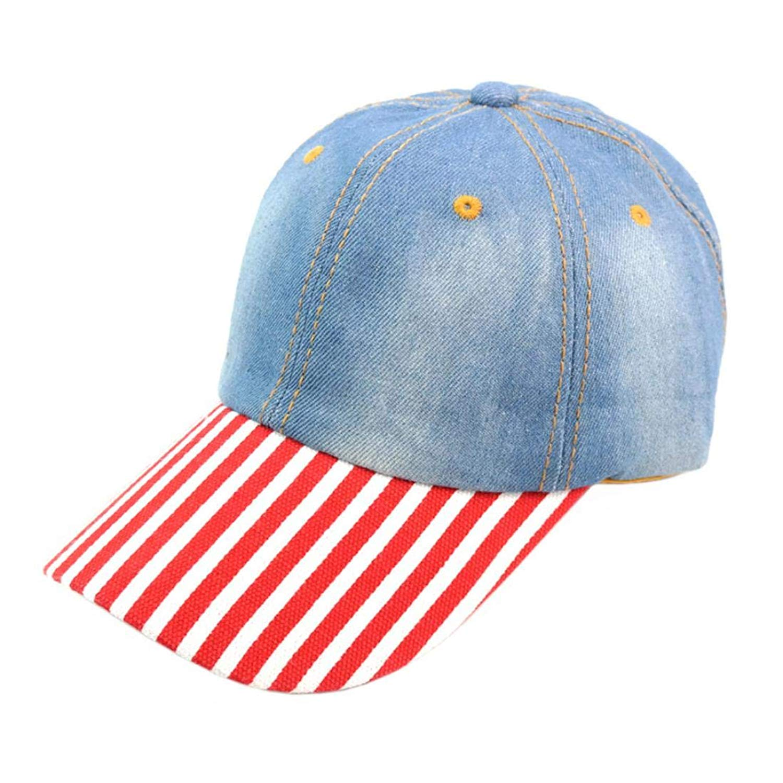 Hanican Fashion Women Men Hats Vintage Denim Baseball Caps Adjustable Hat Sunscreen Cap