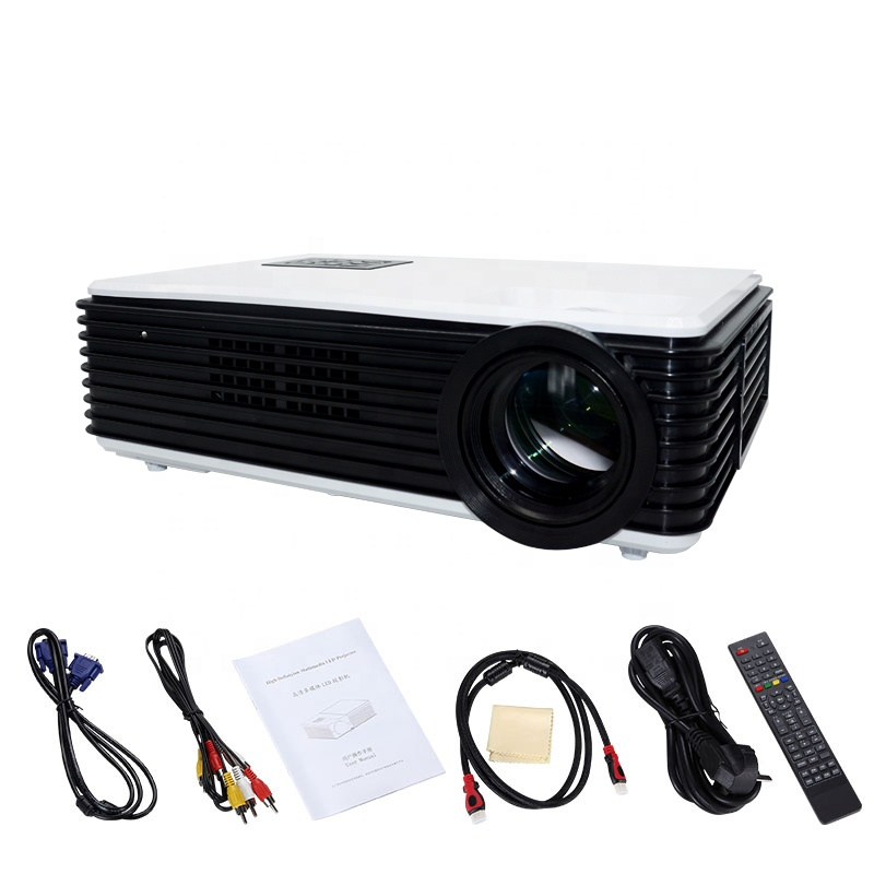 Ultra Short Throw 1080 P พื้นเมือง 6000 Lumens Led Projector สำหรับ Office Home School