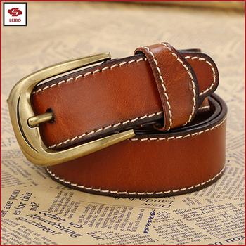 ae490b83b unisex leather stitching belt classical cowhide split leather jeans belt  custom designer belt