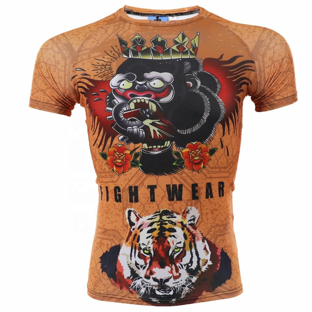 Tshirt Compressie Mannen Gym Wear Braziliaanse Jiu Jitsu Sublimatie Jerseys Korte Mouwen Rash guard