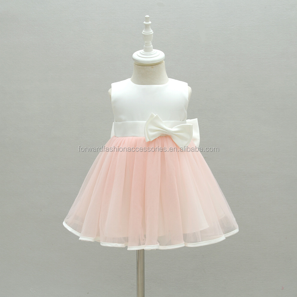 Korean style pink ball gown baby girl 1 year birthday dress