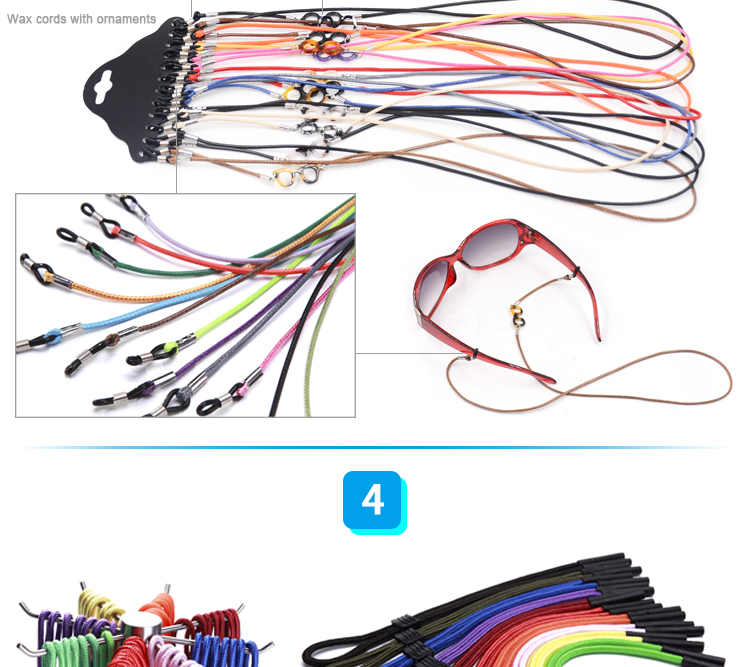 Cheap wholesale discoloration rope for hanging presbyopic glasses