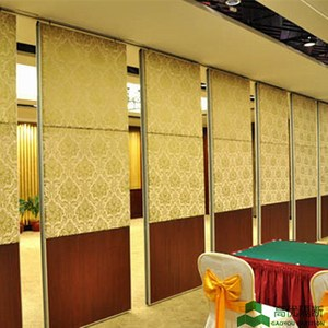 Hotel movable partition wall acoustic operable partition wall board with fabric acoustic panel finished