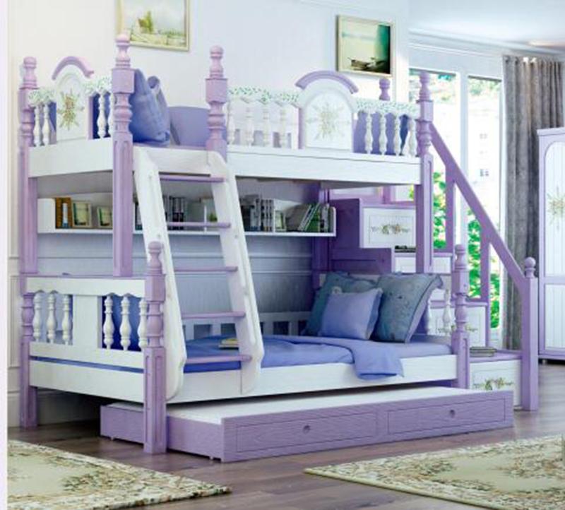 Foshan Modern Oak Wood Bunk Beds Kids Bedroom Furniture Sets For Boys &  Girls - Buy Kids Bedroom Furniture Sets,Kids Bedroom Furniture Sets For ...