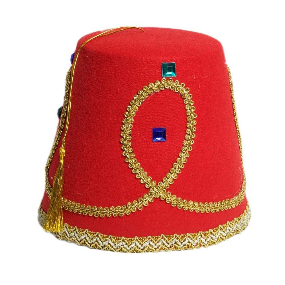 Red Fez Hat with Gold Tassel Shriner Hat Tigerdoe Fez Hat Turkish Hat Moroccan Hat 2 Pack
