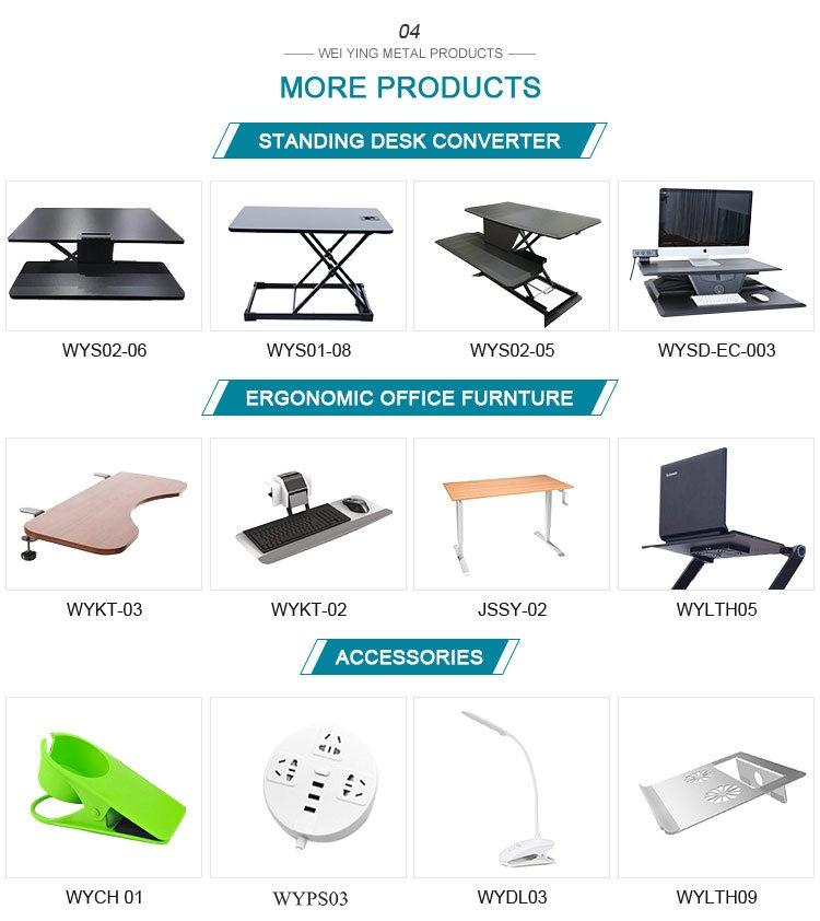 Mesa de escritorio para ordenador, mesa de escritorio negra, convertidor de escritorio con teclado