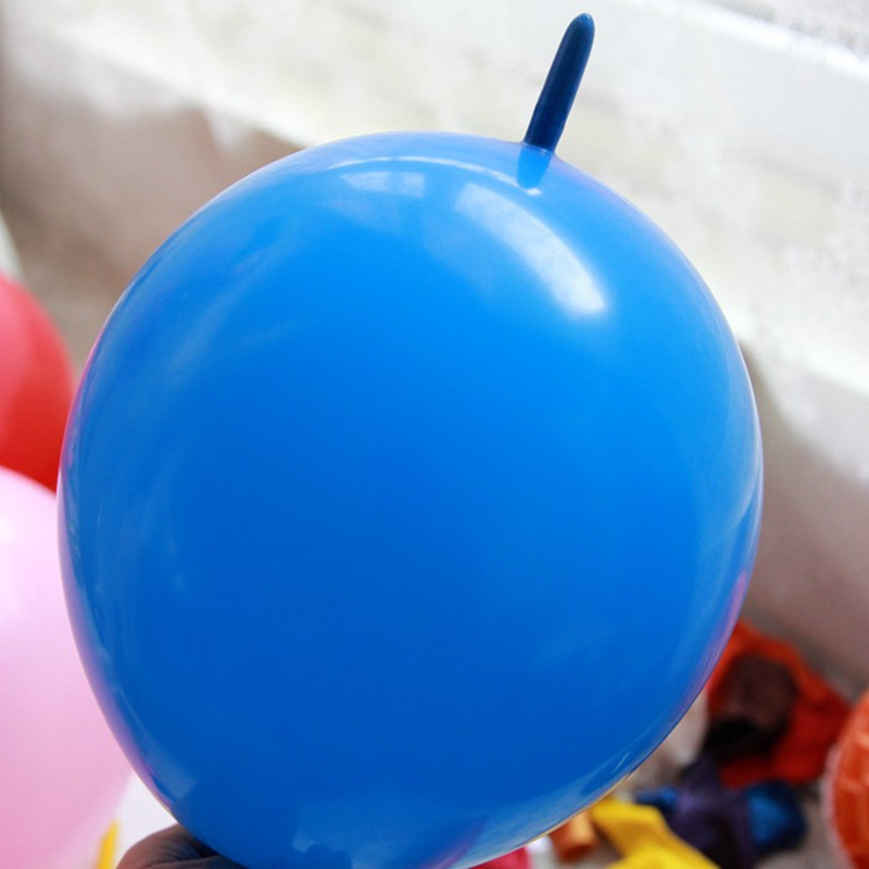 Wholesale 50pcs lot 6 inch Latex link balloons wedding or party decoration BK needle tail balloon