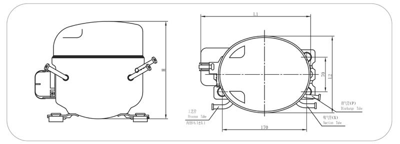 qd65y r600a comercial compresor de refrigeraci u00f3n