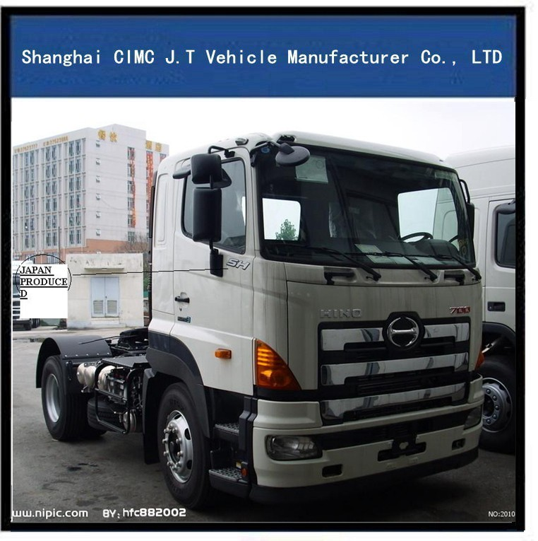 CNHTC CIMC HINO 350 hp prime mover, heavy duty 420 horse power tractor head, HINO 350 hp tractor truck for Kenya