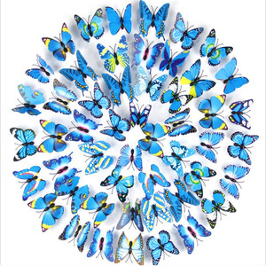 Unionpromo colorful PVC 3D butterfly wall stickers home decor