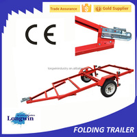 48 x 96 in. Heavy duty 4 x 8 folding utility trailer