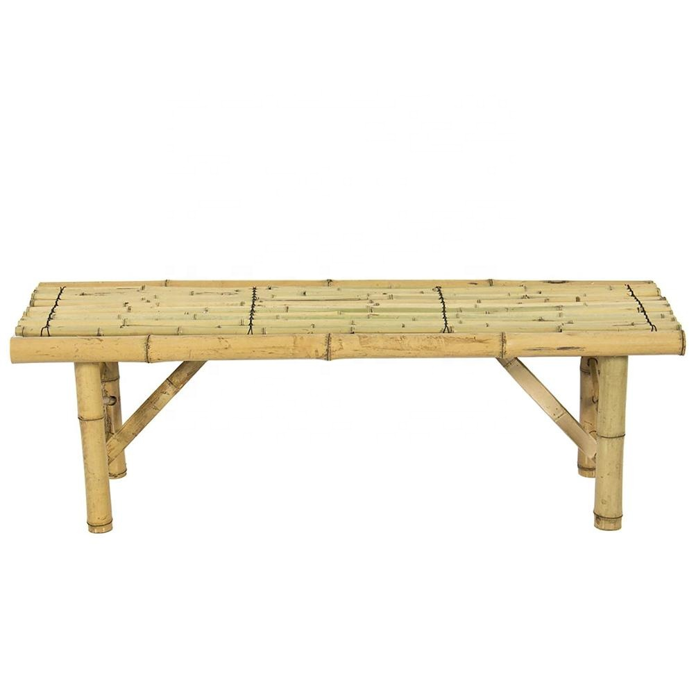 FD-Bamboo Bench Tiki Tropical Coffee Table Decorative Bench Patio Room <strong>Bar</strong> Outdoor