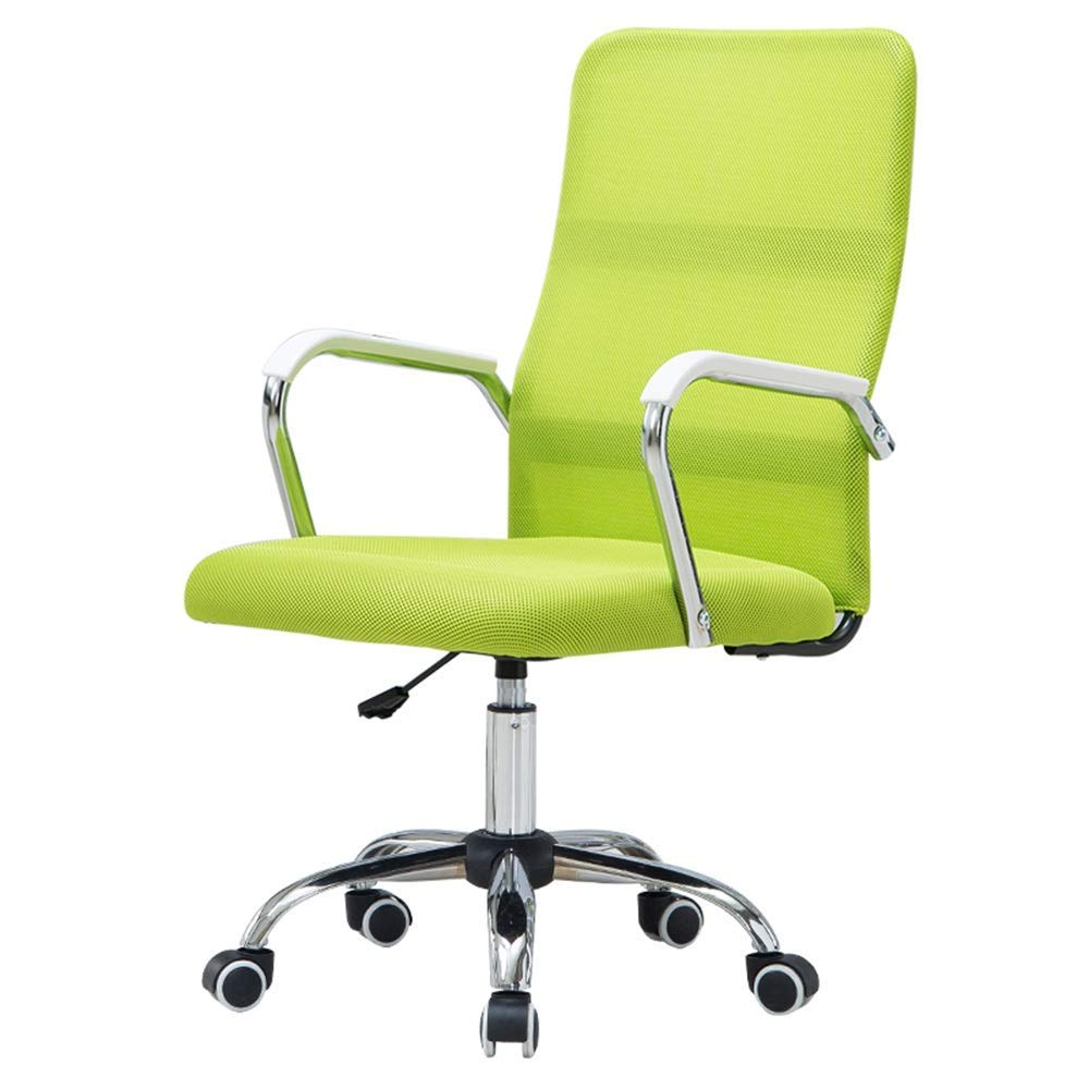 QFFL jiaozhengyi Swivel Chair, Home Computer Chair Rotatable Seat Liftable Backrest Lounge Chair Office Swivel Chair (Color : Green)