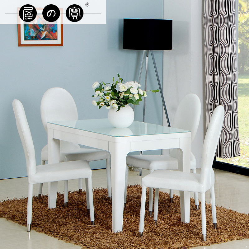 Petite Table De Cuisine Blanche: Treasure House White Small Apartment Ikea Dining Table For