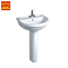 Factory direct supply single hole oval one-piece sink pedestal specification wash basin price made in China