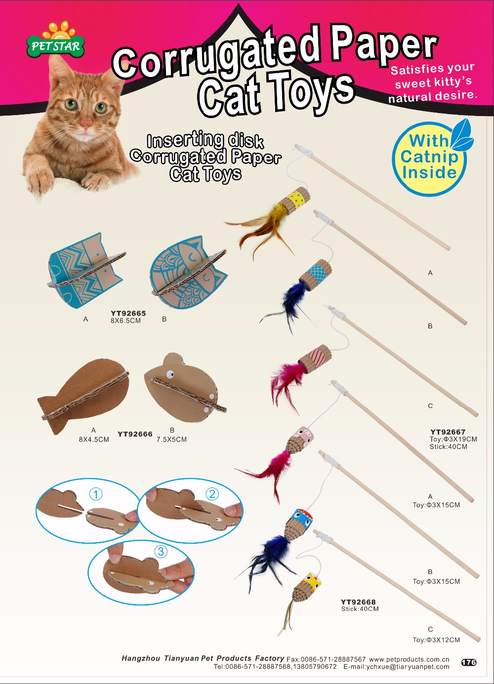 Bright Cute Cheap Interactive Cat Toy Wand