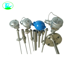 Anti-spray type armored thermocouple with protection tube
