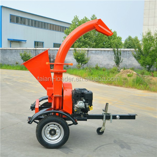 small Garden disk wood chipping machine with sharp blades gasoline wood chipper for sale