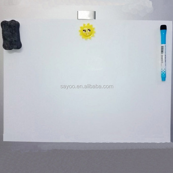 small white board refrigerator magnetic whiteboard office message