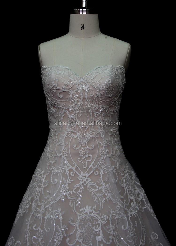 2017 Gaya Baru Off Bahu Trail Eropa Putih Murah Wedding Dress Gaun