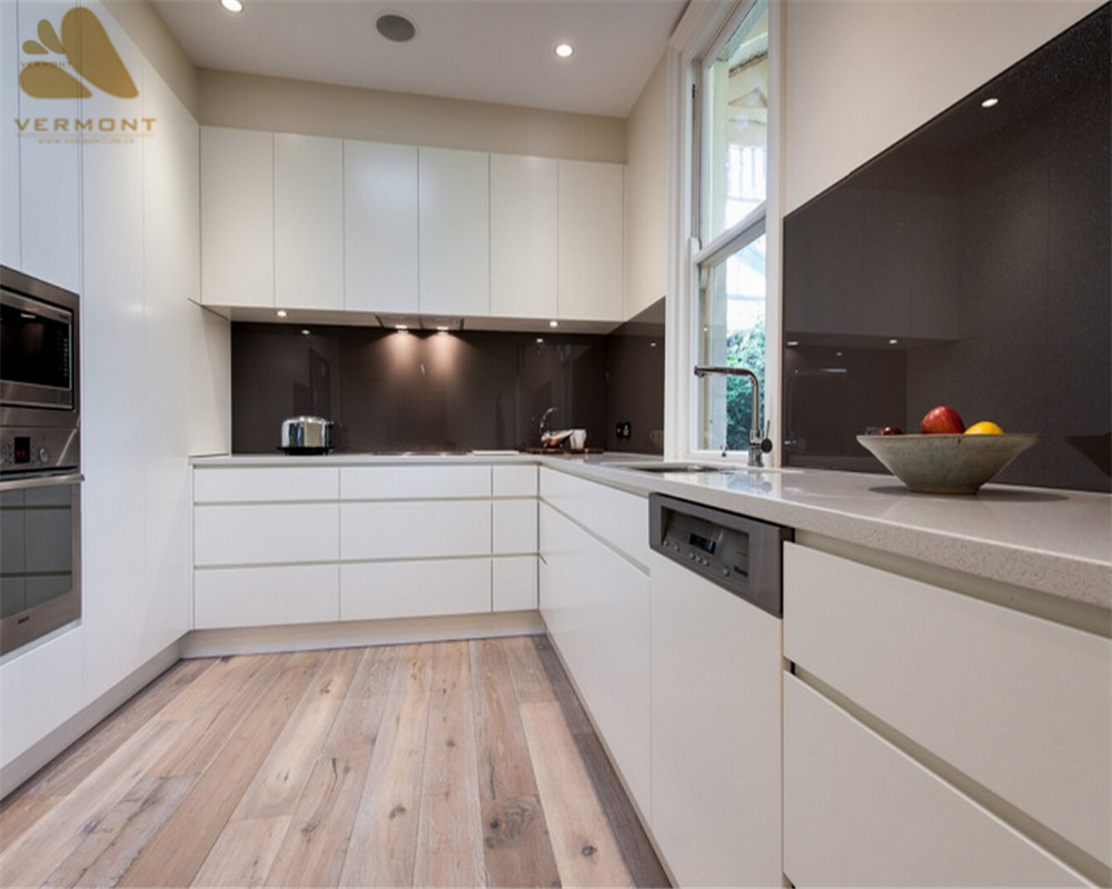 2018 Hangzhou Vermonhouse Matt Lacquer White Kitchen <strong>Cabinets</strong> Direct from China Kitchen <strong>Cabinets</strong> Wood Kitchen MDF Modern Style