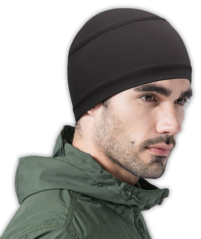 Wholesale running beanie hat cooling helmet liner 89% polyester 11% spandex  running beanie skull cf78d74cb6e