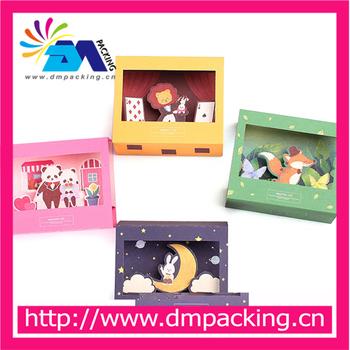 So lovelyfree shipping cartoon animals paper folding type greeting free shipping cartoon animals paper folding type greeting cards with envelope lion m4hsunfo