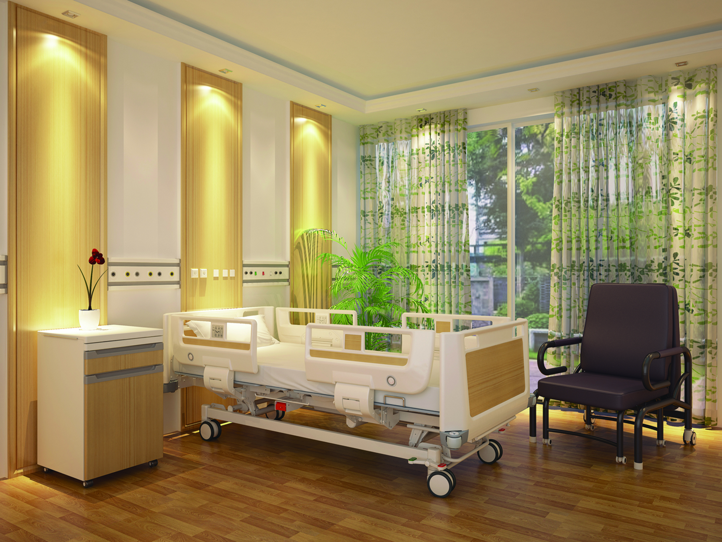 CE/ISO/FDA Approved luxury ICU Hospital Bed