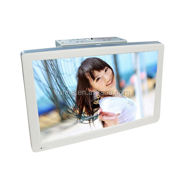 Hot selling 24 inch Flip Down Advertising Player/Display/TV/Monitor for Car/Bus