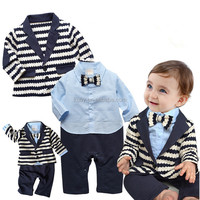 Baby Boy Toddler Suit Set Outfit Clothes with Bowtie & Long Sleeve Coat